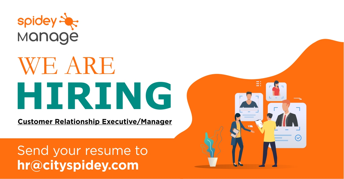 SpideyManage is looking for Customer Relationship Executive/Manager